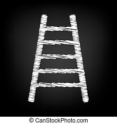 Ladder sign. Scribble effect