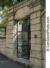 Door of sanatorium in the Pyatigorsk - Old door of...