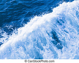 blue water and white foam boils - beautiful clear blue water...