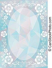 pink blue floral border