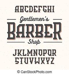 Gentlemans Barber Shop font - Gentlemans Barber Shop vintage...