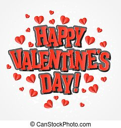 Happy Valentine's Day greeting card illustration