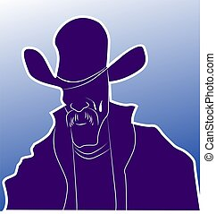 man standing - Illustration of a silhouette of man standing...