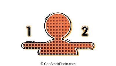 comic avatar with numbers - abstract red avatar in retro...