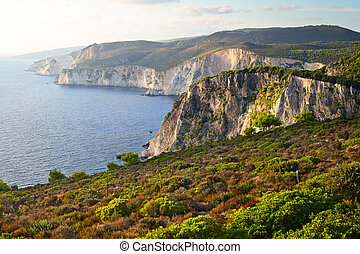 Keris cliffs in the sundown, Zakynthos, Greece