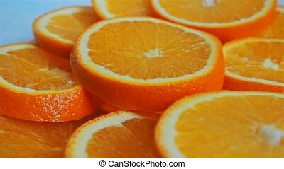 sliced oranges on a plate shooting travel