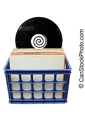 Vinyl LP Record Collection in Crate. This is a popular...
