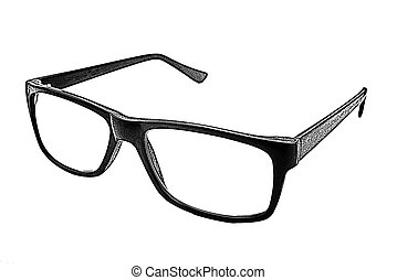 illustration of eyeglasses on the white background