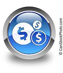 Finances (dollar sign) icon glossy blue round button