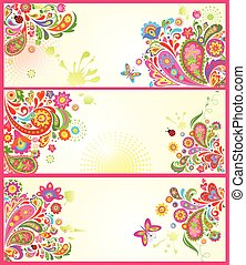 Summery decorative banners