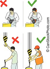 Prevention of accidents - Vector illustration of a...