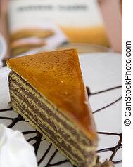 Caramel Cake - Caramel cake with selective focus