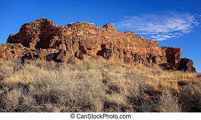 Citadel Pueblo at Wupatki National Monument - Pueblo indian...