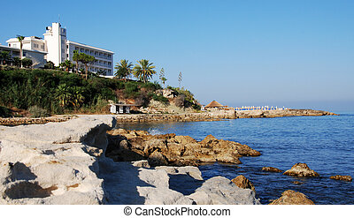 Holiday resort - Holiday resort from Paphos beach in Cyprus...