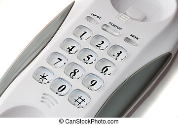 Landline phone isolated on the white background