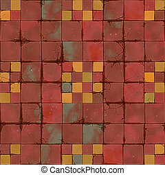 tiles brown ocher seamless