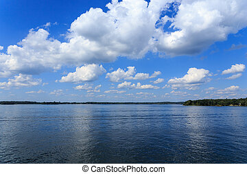 Blue skies over the St Lawrence in summer