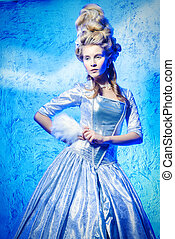 Ice Queen - Portrait of a beautiful young lady in a...