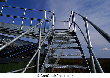 Ladders On An industrial construction Site