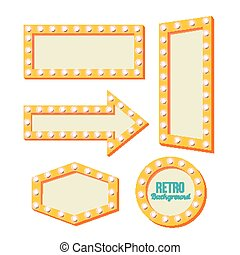 retro yellow frame. Vintage Signs - Neon Night frame....