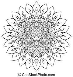 Indian Mandala - Ornament beautiful card with mandala....