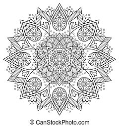 Indian Mandala - Ornament beautiful  mandala.