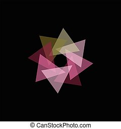 Seamless Colorful Abstract Pattern from Repetitive Shapes on Dark Background
