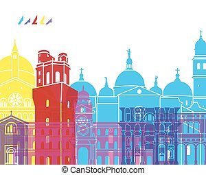 Padua skyline pop in editable vector file