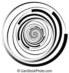 Concentric - converging circles Abstract vortex, spiraling...