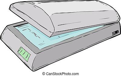 Open Flatbed Scanner