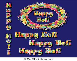 Abstract for Happy Holi colorful background Vector...