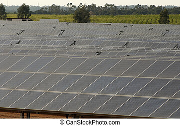solar panels in the rural countryside