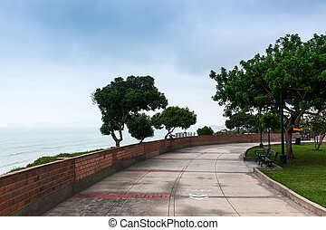 park on shores - park on the shores of the Pacific Ocean