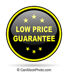 low price guarantee black and yellow glossy internet icon -...