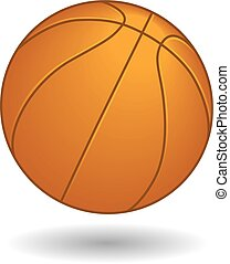 Basketball isolated on white background with shadow