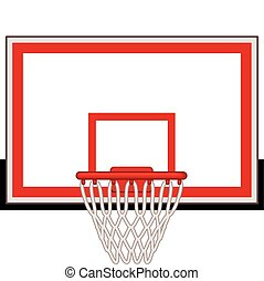 Basketball hoop - Rectangular basketball hoop