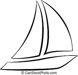 Sailboat - an abstract silhouette of a ship