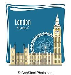 London landmarks detailed illustration - London landmark...