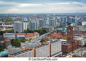 View of buildings in Mitte, Berlin, Germany