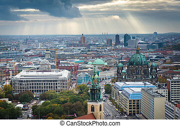 View of buildings in Mitte, Berlin, Germany.