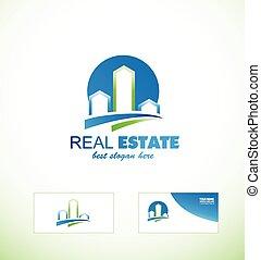 Real estate logo icon city scape - Vector company logo icon...