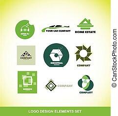 Logo element design company set