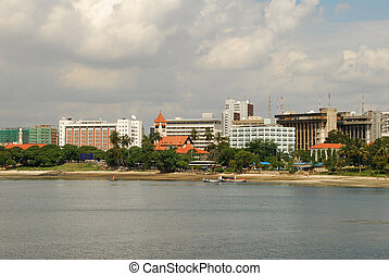Dar es salaam seen from the sea