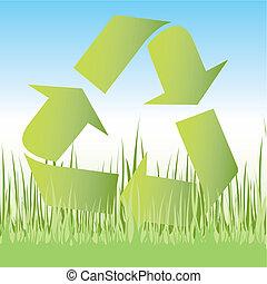 Recycle symbol icon - Recycle symbol 3D icon vector...