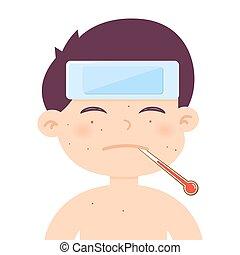 Little Boy Sick High Fever