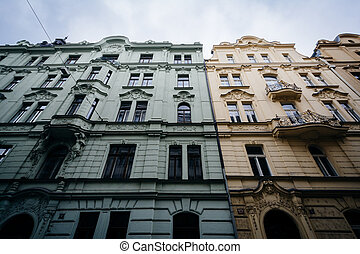 Historic building in the Old Town, Prague, Czech Republic.