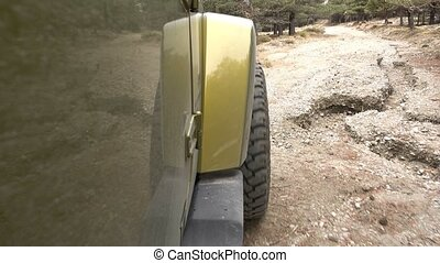 Offroad in the forest - Right Side Camera View