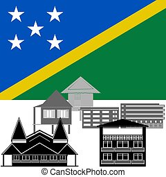 Solomon islands - National flag of Solomon islands and...