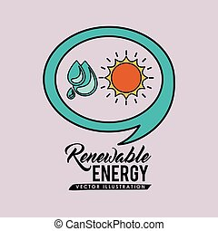 renewable energy design, vector illustration eps10 graphic