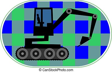 earth mover - Illustration of an earth mover machine moving...
